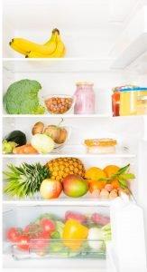 a fridge full of healthy snacks